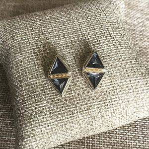 Anna Beck Gold Plated Double Hematite Studs